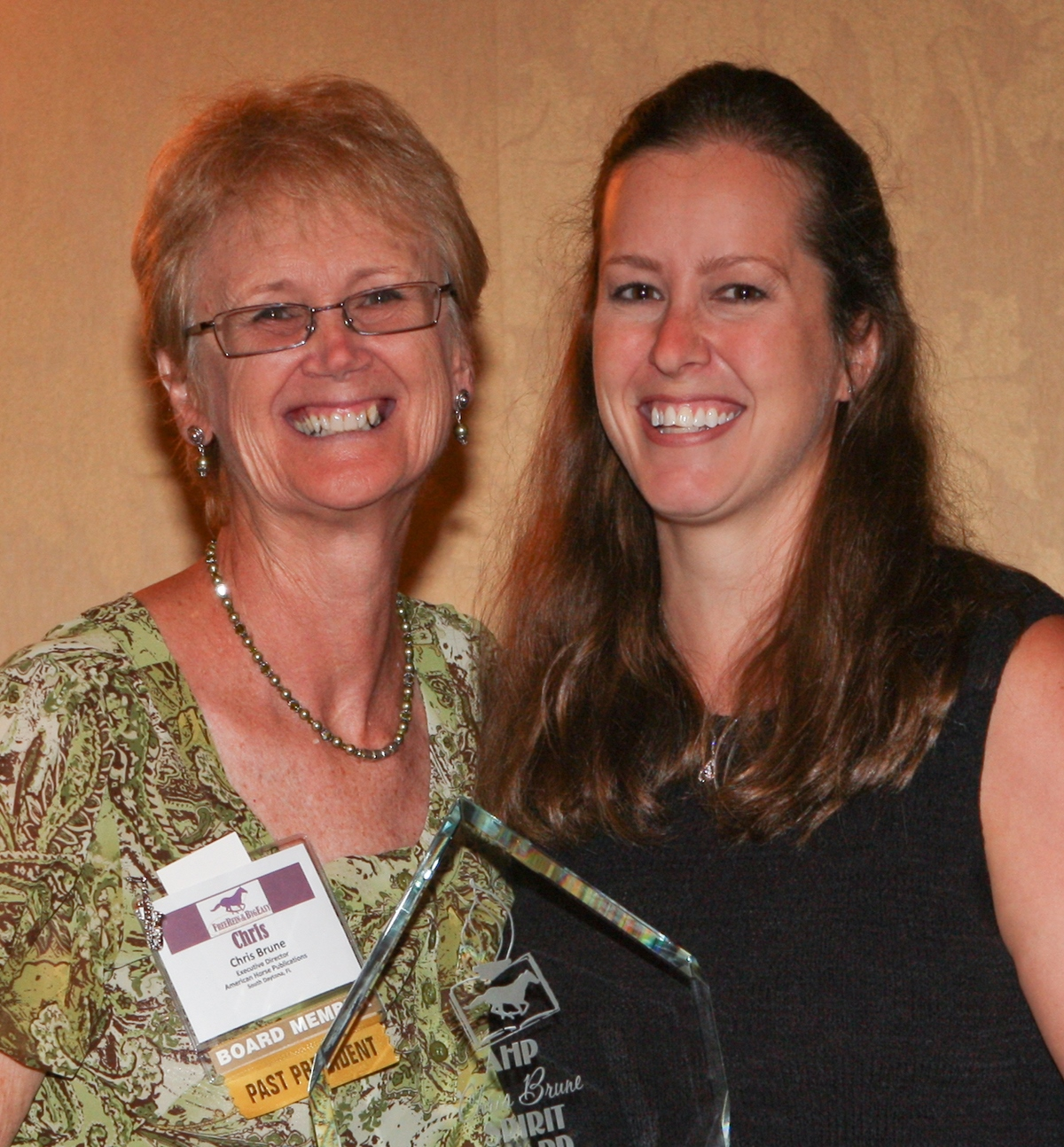 Christy West Wins 2009 AHP Chris Brune Spirit Award