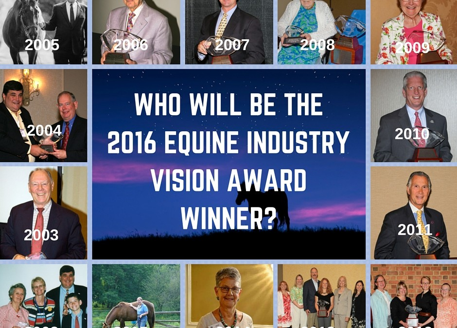 Four Finalists Selected for 2016 Equine Industry Vision Award