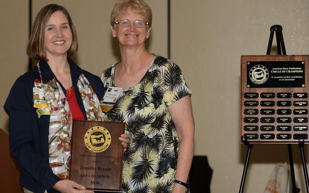Jennifer Bryant Honored as AHP Champion in 2016