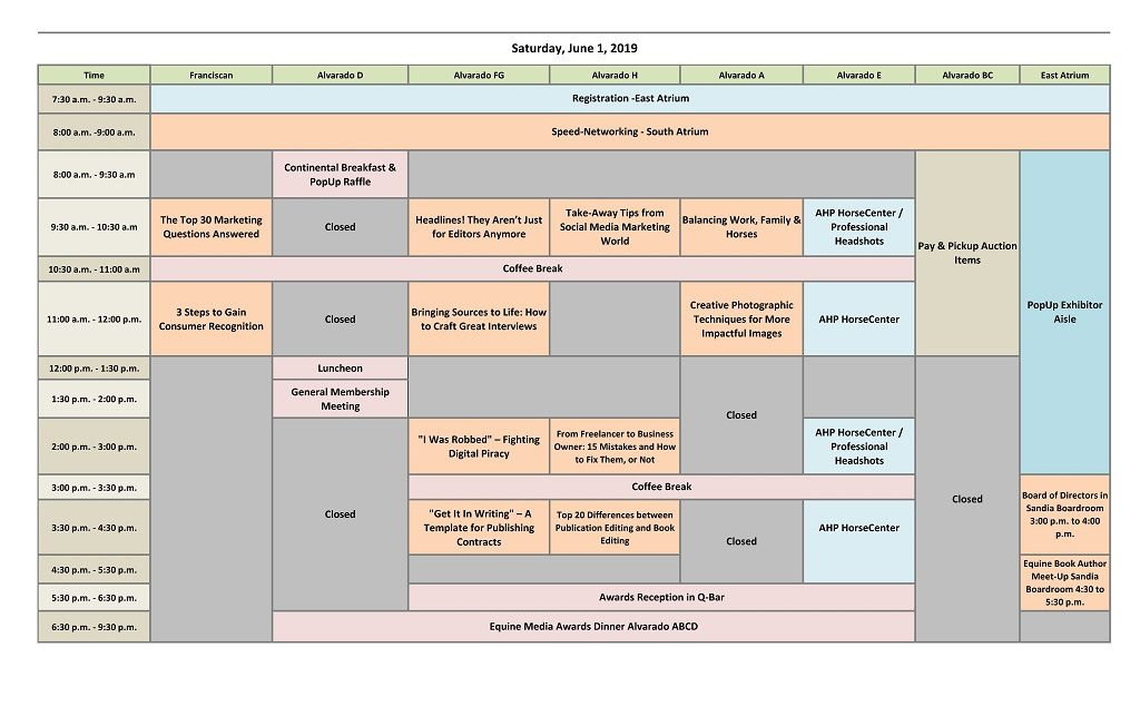 Conference at a Glance - American Horse Publications
